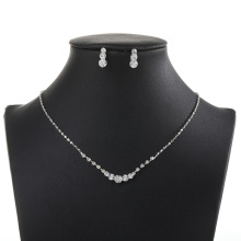Necklace-Set Wedding-Jewelry-Sets Crystal Rhinestones African Beads SLBRIDAL Silver-Color