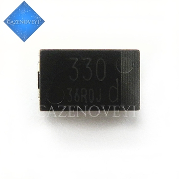20pcs/lot SMD 6.3V 330UF Tantalum capacitor low ESR 4TPB330M 7343 can replace OE128 OE907 0.8 In Stock - discount item  8% OFF Active Components