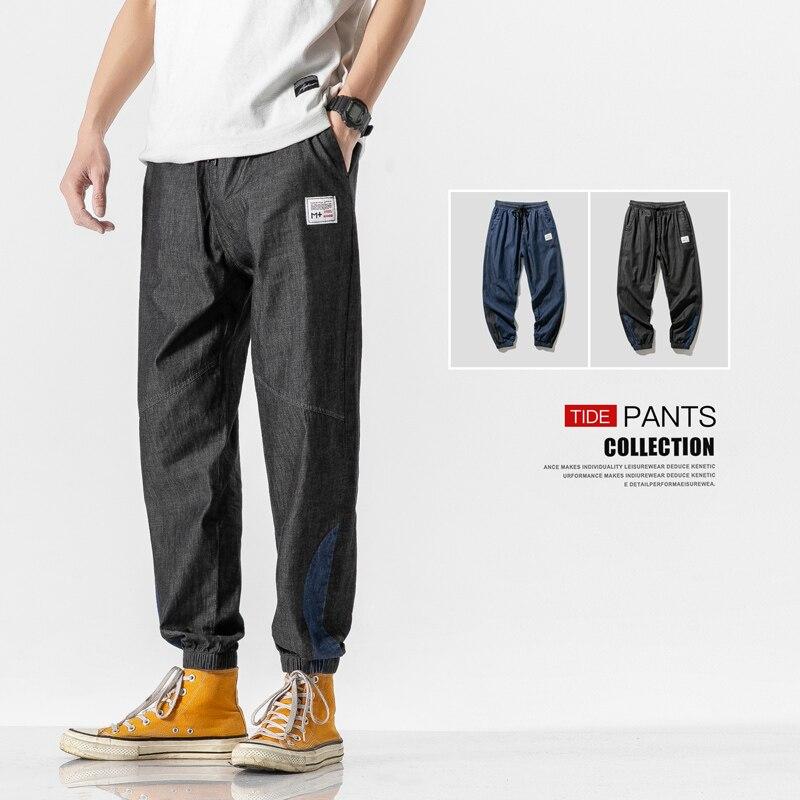 Japanese Streetwear Men Jeans Pants 2020 Spring Denim Jeans For Men Fashion Jeans Designer Brand Male Trousers Summer Sweatpants