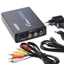 3RCA AV CVBS Composite s vidéo R/L Audio vers HDMI convertisseur adaptateur prise en charge 720P/1080P pour PS2 PS3 NES SNES Nintendo 64 HDTV