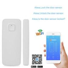 WiFi Door Alarm Sensor 2.4Ghz Home Security Alarm System Mini One-key Connect Fire Motion Sensor Alarma Puerta Alarm for Door