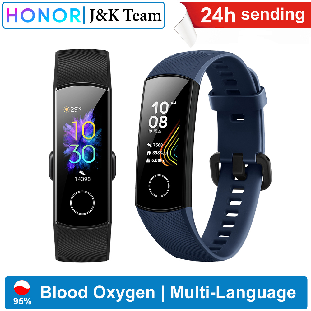 Honor Sleep-Tracker Smart-Watch Blood-Oxygen AMOLED Swiming Ftness Heart Sport Band-5