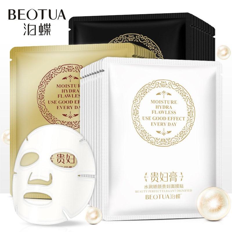 BEOTUA Rejuvenescimento Hidratante Clareamento Máscara Facial Diminuir os poros Endurecimento Da Pele Óleo-controle Preto Máscara de maquiagem coreano