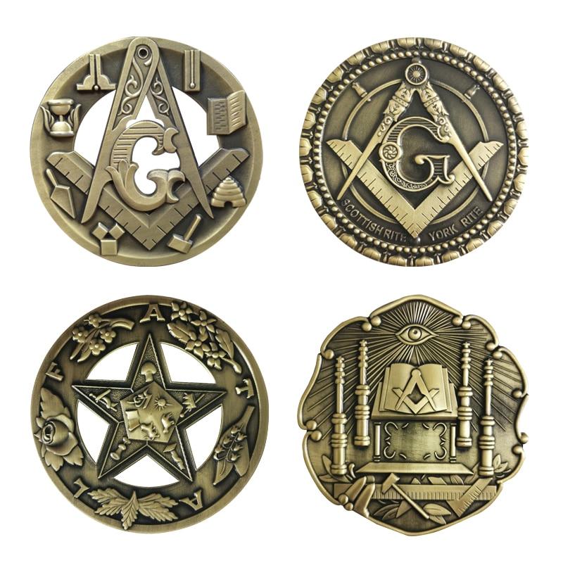 Freemason Masonic Car Emblem 3D Concave convex solid Retro Stickers Metal  G arch Personality Knight Badge Business Decor