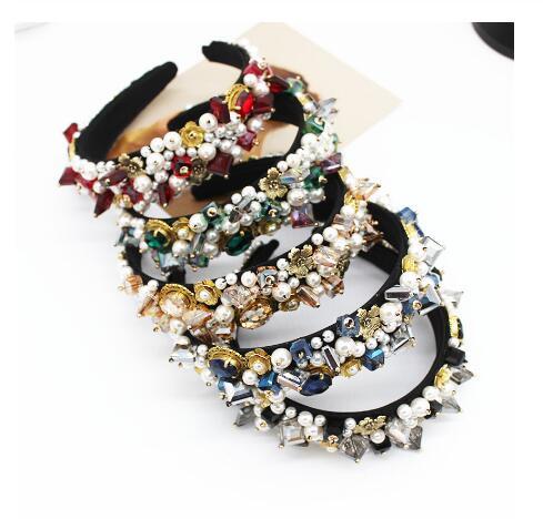 Novos e Da Moda Barroca Mulheres Headband Do Hairband De Cristal Jóia Do Casamento Strass Diamante Senhoras Elegantes Acessórios Para o Cabelo