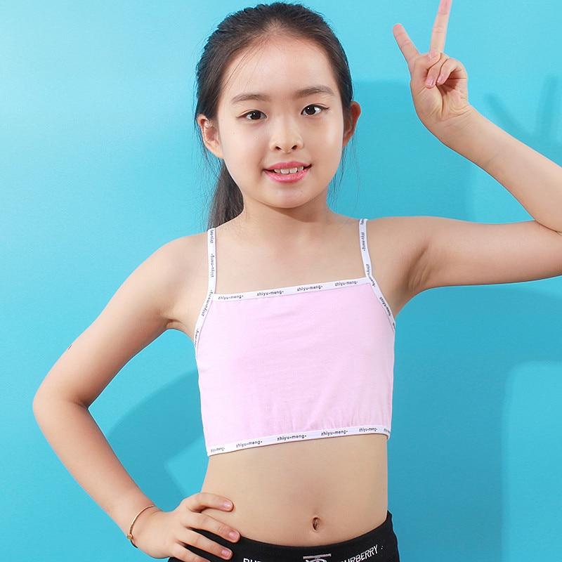 3-Pack Age 8-14 Girls Lace Training Bra Beginner Bralette Cotton Crop Tops UK