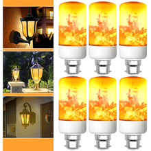 6Pack Flame LED Light Bulbs B22 42/63/99Leds Lighting Flickering Flame LED Bulb Home Decoration for Christmas New Years D35