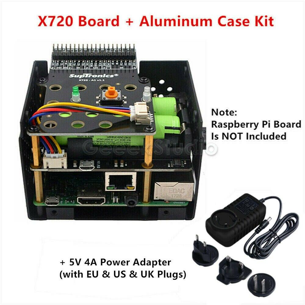 Raspberry Pi X720 Power Management UPS HAT (18650 Power) +Safe Shutdown+Wake On Lan Expansion Board For Raspberry Pi 3 B+/3B