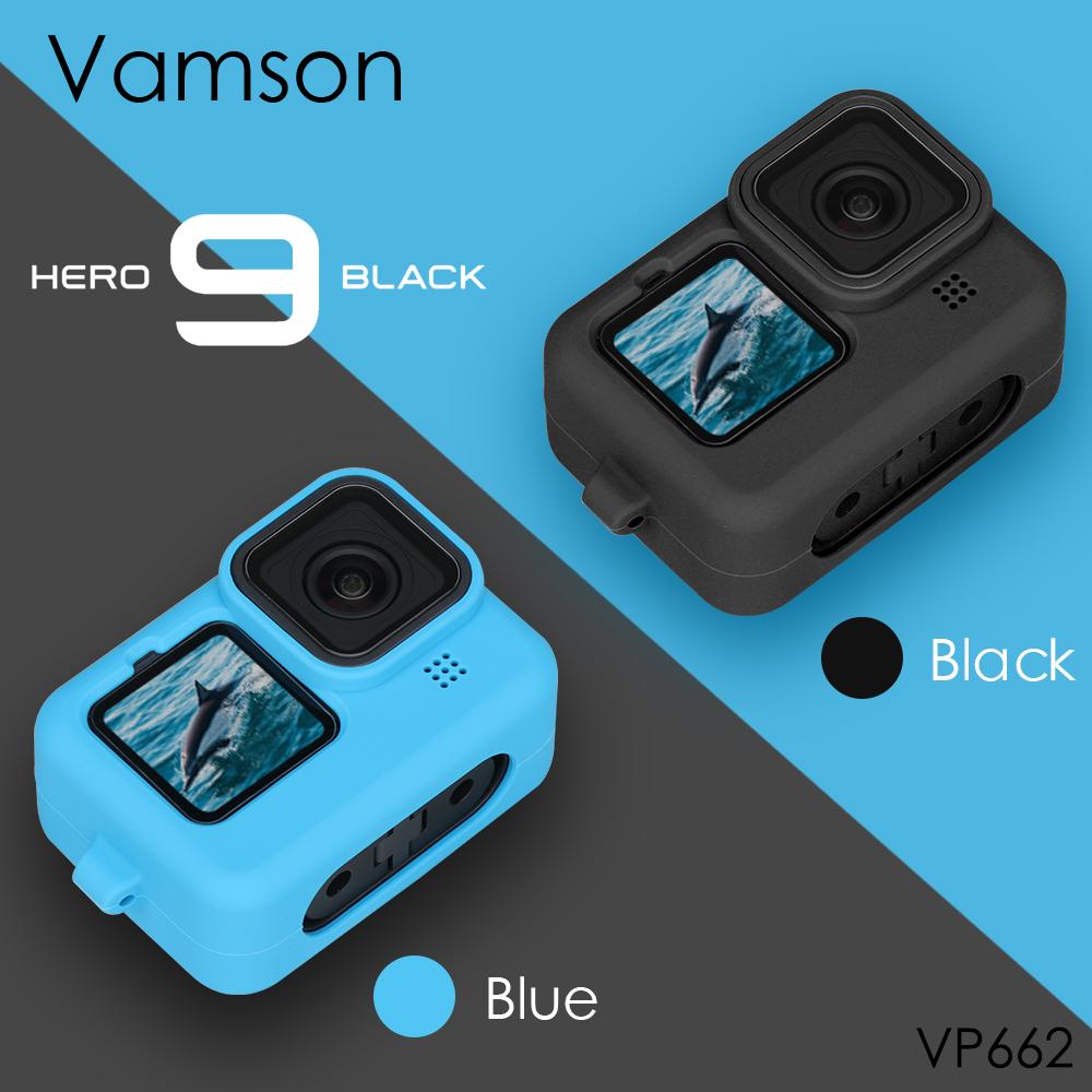 for Gopro Hero 9 Black Soft Silicone Case for Go pro Hero 9 Silicone Protective Full Cover Shell Camera Accessorie VP662