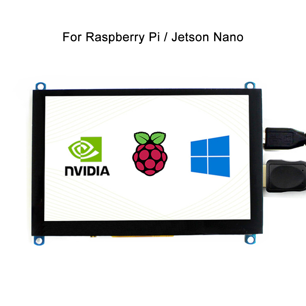 Raspberry Pi4B/3B/Jetson Nano 5 Inch LCD HDMI Touch Screen Display LCD Panel Module 800*480 High Resolution HDMI Interface