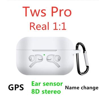 Nowy Tws Pro zmień nazwę pozycjonowanie słuchawki Bluetooth wykrywanie ucha KO i800 i100000 i200000 TWS bezprzewodowe słuchawki tanie i dobre opinie Wangsenna Dynamiczny wireless Ucho Do Gier Wideo Wspólna Słuchawkowe Dla Telefonu komórkowego Słuchawki HiFi Sport Brak