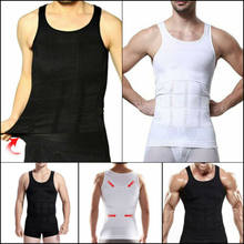 Men's Slimming Body Shaper Tummy Belly Compression Corset Vest Tops Underwear(China)