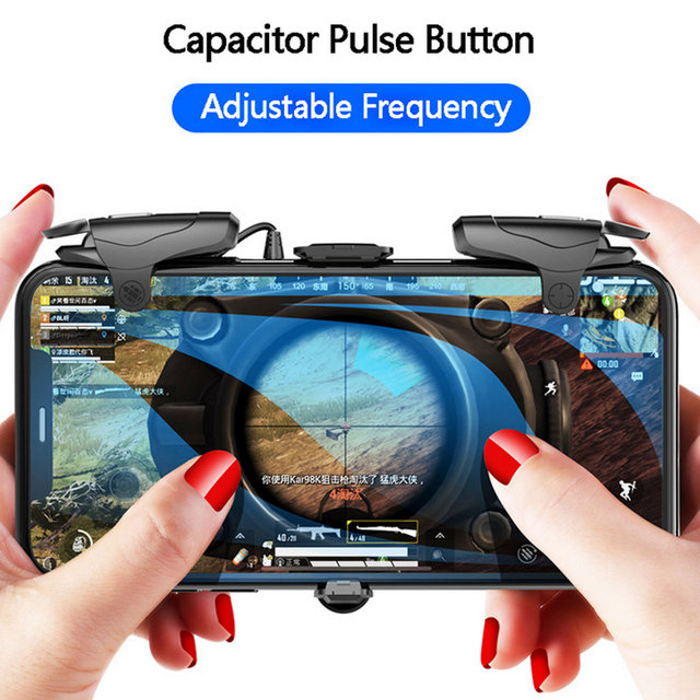 Bevigac Game Shooter Controller Fire Button Gamepad Joypad Trigger for PUBG Eat Chicken for Iphone Android phone Game Handle