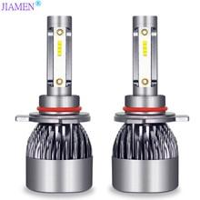JIAMEN 6400LM/Pair LED Headlight Bulbs 60W Auto Lights Car H7 H1 H3 H27 H11 HB3 HB4 H4 H13 9004 9007 Styling Lamp