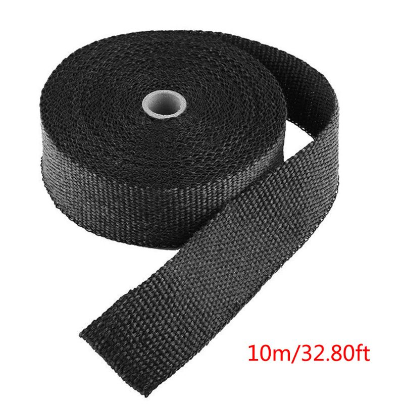 Repair Wrap Tape 5M 1 Roll Fiberglass Exhaust Header Pipe Heat Wrap Tape Black U90A|Tape|   - title=