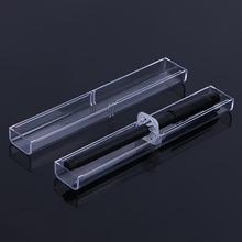 1pc piórniki z tworzywa sztucznego przezroczyste etui obsadka do pióra prezent kryształowy długopis pudełka do pakowania artykuły papiernicze artykuły szkolne artykuły biurowe na prezent tanie tanio CN (pochodzenie) pencil case other P0RB9A10632