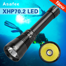 Brightest Professional Diving Flashlight XHP70.2 Portable Scuba Dive torch 200M Underwater IPX8 Waterproof 18650 Flashlights