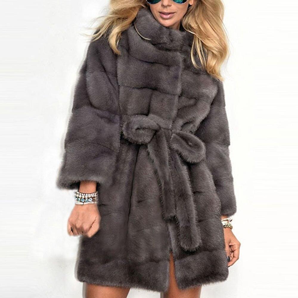 Fleece Faux Fur Jacket Coat Winter Women Overcoat 2019 Warm Fluffy Plush Plus Size Teddy Coats Elegant Streetwear Outwear 4XL
