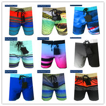 2020 Bermuda Beach Spandex Mens Hawaii Peregangan Celana Pendek Elastis Dsq Phantom Turtle Hitam Biru Putih Merah Pink Orange(China)