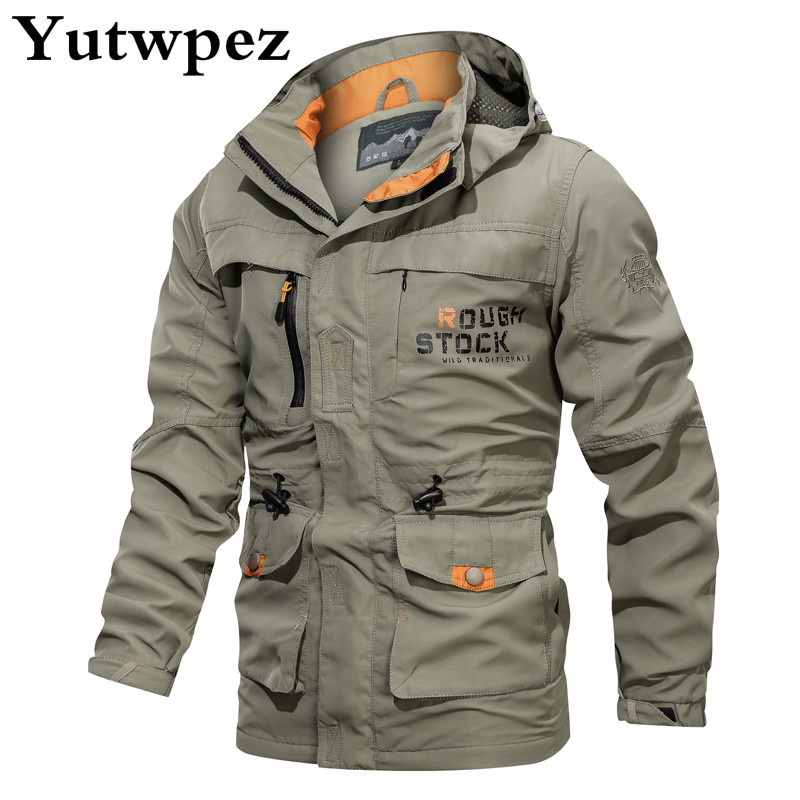 Winter Men Jacket Army Green Military Wide-waisted Warm Coat Casual Cotton Hooded Windbreaker Fashion Jackets Overcoat Male 2019