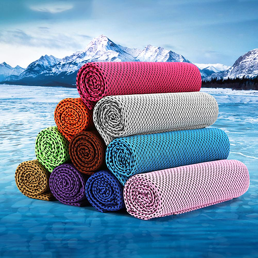 30x90cm Microfiber Sport Ice Towel Cooling Towel Ice Face Towel Quick-Dry Beach Towels Summer Enduring Instant Chill Towels 201