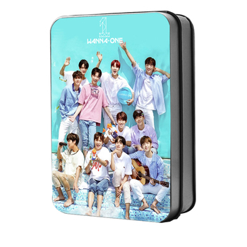 Kpop Wanna One <Summer Package> Polaroid Photo Lomo Cards Fashion K-POP Wanna One Fans Collection Gifts Metal Box 40Pcs/Box фото
