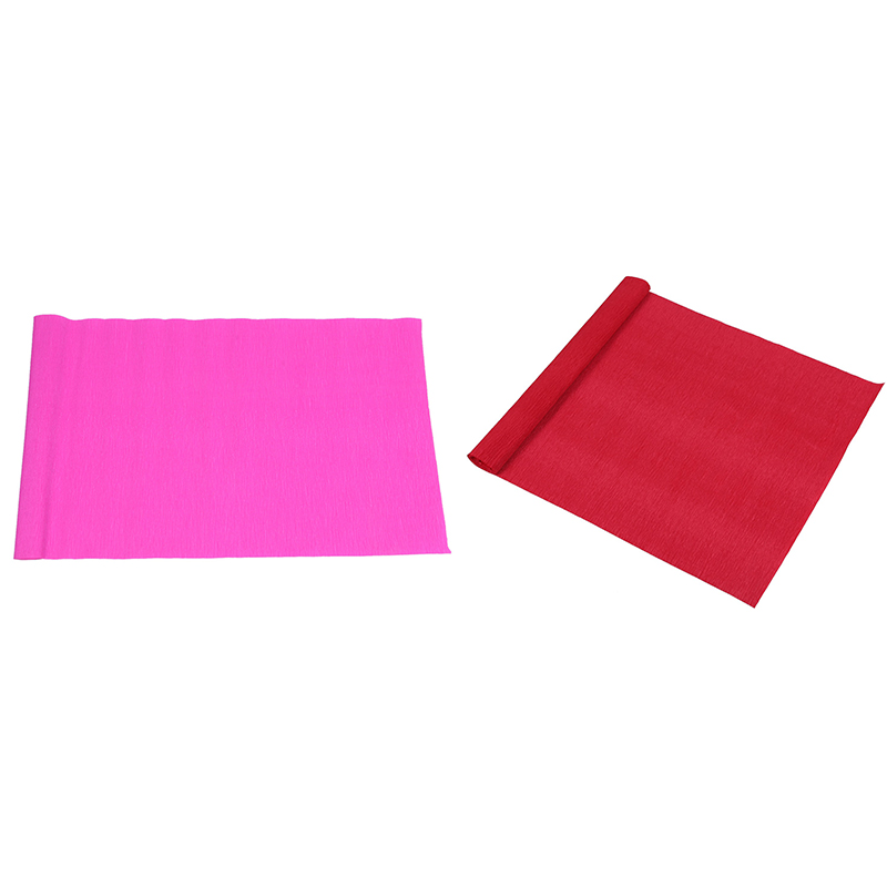 2 Roll DIY Flower Packing Crepe Papers Handmade Materials Crinkled Paper For Birthday Wedding Party Decoration 250x50Cmm, Big Re