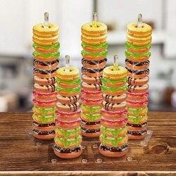 Akrylowy stojak na pączki patera 5 sztuk  przezroczysty pojemnik na Baby Shower Wedding & Birthday Party