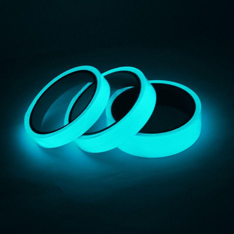 3M*1.5/2.5/5CM PET Material Glow In The Dark Tape Luminous Tape 2 Colors Self-adhesive Night Luminous Fluorescent Sticker