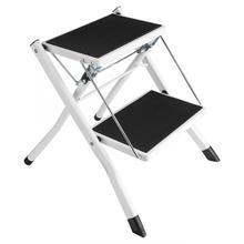 Folding Ladder Step-Stools Anti-Slip Tool-Tray with Little-2 Tread