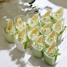 Dessert-Cups Pudding Slanted Mini Jelly Clear 10PCS 80ml Elegant
