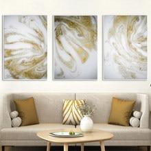 الذهبي الفاخرة الفني اللوحة ديكور المنزل جدار صورة فنية مجردة المشارك و طباعة الذهب الرمال قماش اللوحة لغرفة المعيشة