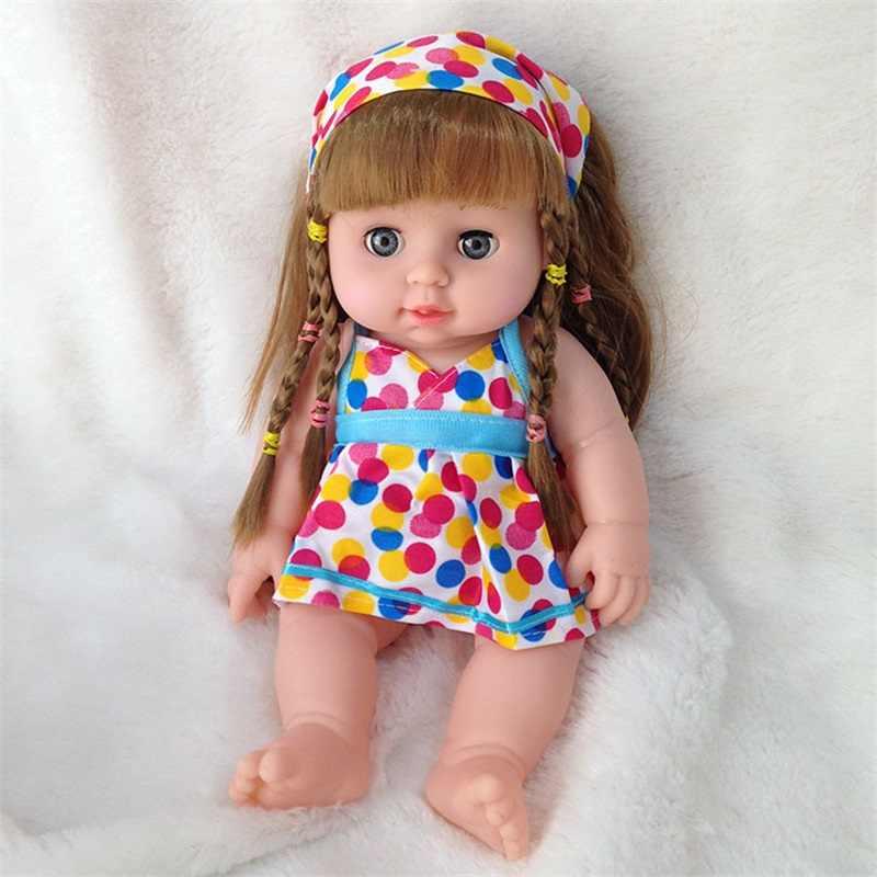 Muñeca de moda de Vinilo Suave de 20/30cm para bebés recién nacidos, playmate, juguetes para niños, accesorios de fotografía para regalos de Navidad y cumpleaños