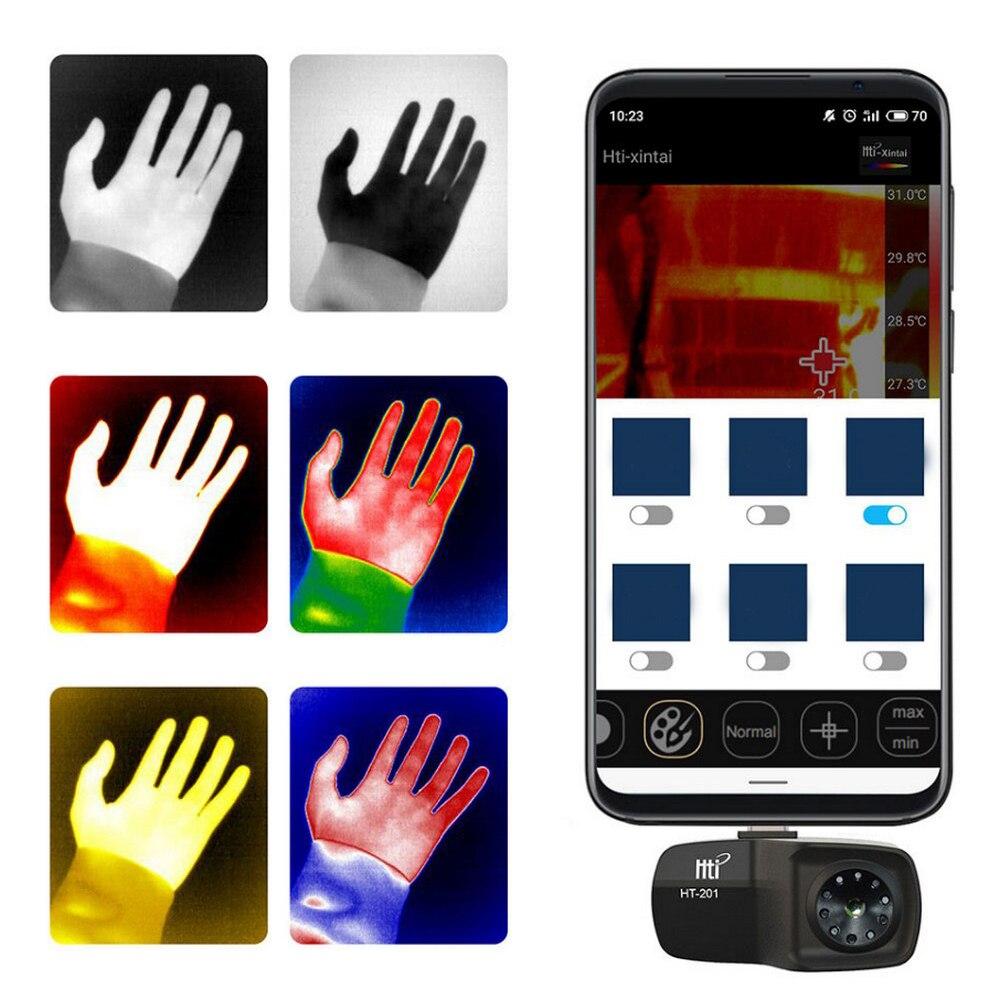 Обновленный HT-201 мини мобильный телефон внешний Инфракрасный Тепловизор камера ручной термометр Imager обнаружения для Android - Цвет: HT-201