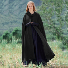ZOGAA Winter Women Cloak High Quality Designer Female Vintage Thick Hooded Floor-Length Medieval Long Cape with Hoods Overcoat