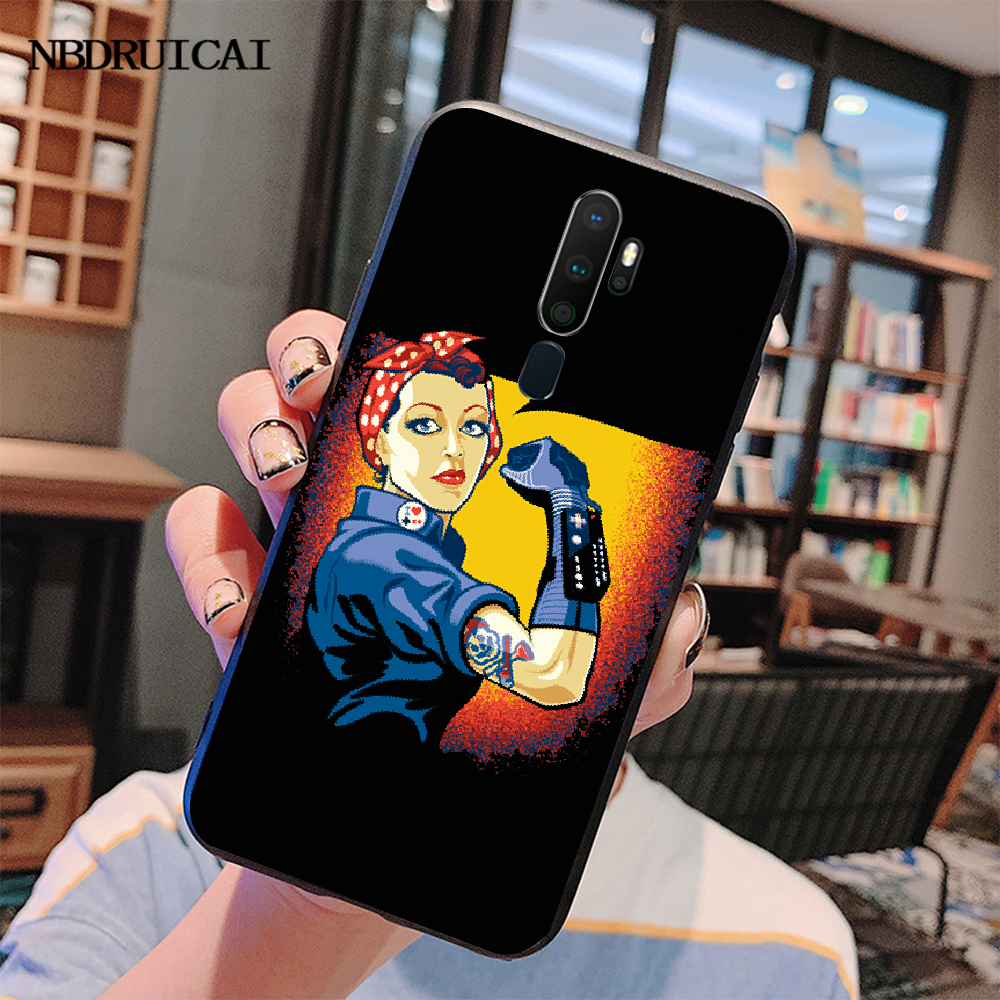 NBDRUICAI эстетика Минимальная девушка мощность Feminist чехол для телефона для Oppo A5 A9 2020 A11x A71 A73S A1K A83 чехол