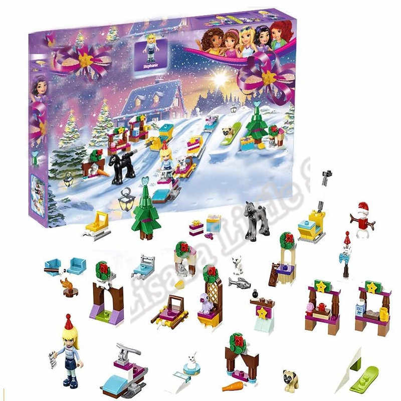 New Girl Friends Advent Calendar Star Wars City Set Building Block Bricks Toys Legoinglys Christmas Xmas Gift With 75213 41353