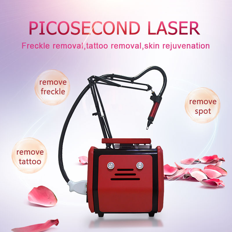 High Quality 4 Wavelength Nd Yag Laser 755 1320 <font><b>1064</b></font> 532 <font><b>Nm</b></font> Picosecond Laser Beauty Machine for Tattoo Eyebrow Wrinkle Removal image