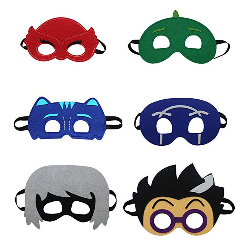 PJ Masks Cosplay Felt Mask Blindfold Child Toys Role-playing Catboy OwlGilrs Gekko Action Figure Children Gifts Birthday Gifts