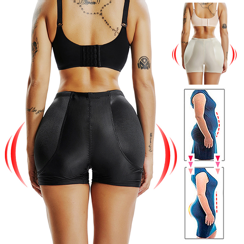 FAKE ASS High Waist Tummy Control Seamless Shapewear Hip Enhancer Booty Padded Butt Lifter Panty Boyshorts Shorts for Women-in Control Panties from Underwear & Sleepwears on AliExpress