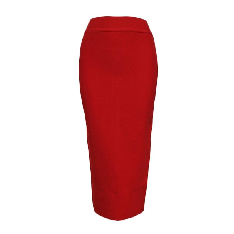 Long Skirts Womens 2019 Summer Sexy Bandage Pencil Skirt Woman Clothes Plus Size Fashion Harajuku Vintage Elastic Ladies Skirts