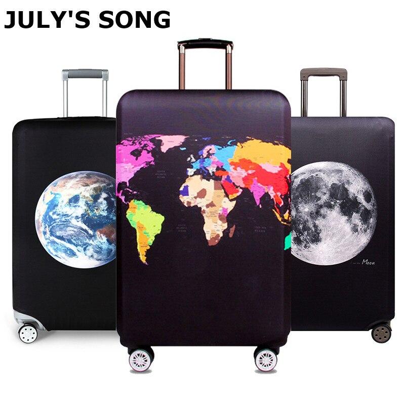 JULY'S SONG дорожный защитный чехол эластичный Чехол для багажа чемодан на колесиках чехол для чемодана 18 ~ 32 дюймов аксессуары для путешествий