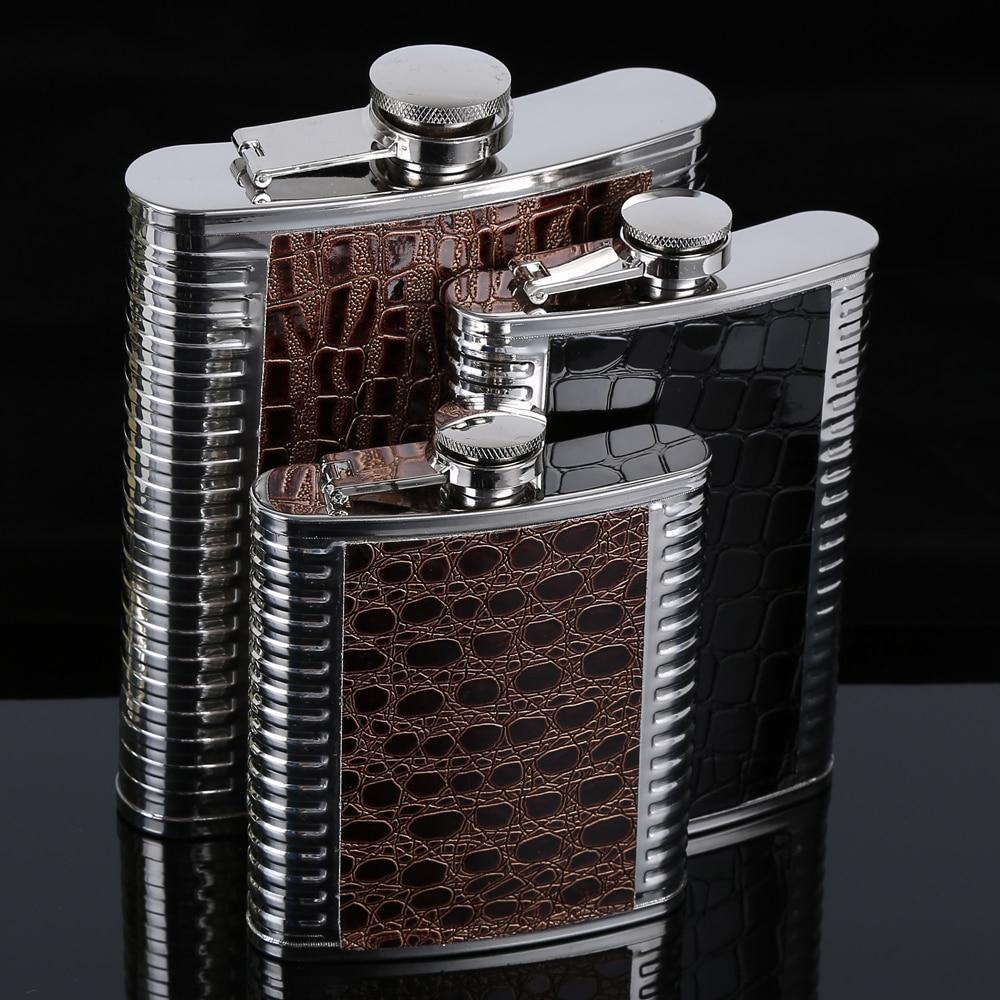 H4c6f95ed0b91497ea4cffb7c3ee5f3961 Hip Flask 5 6 7 8 9 10oz Stainless Steel PU Pocket Drink Holder Whisky Liquor Vodka