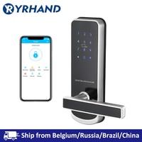 TT lock app Security Electronic Door Lock  WIFI Smart Touch Screen Lock Digital Code Keypad Deadbolt For Home Hotel Apartment Electric Lock     -