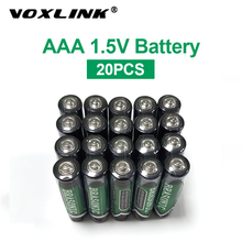 VOXLINK 20PCS battery aaa 1.5v  LR6 AM3 R03 MN1500 Carbon Dry Battery Primary Battery For keyboard camera flash remote control sale 4 10pcs 1 5v lithium aa battery 3000mah lr6 am3 2a lifes2 cell dry primary battery for camera and toys electric shaver