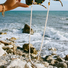 Sunglasses Necklace Jewelry Rope Irregular-Freshwater-Pearl Women's Fashion Retro Anti-Skid