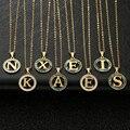 Золото 26 букв из нержавеющей стали ожерелья для матери кулон с жемчужной раковиной ожерелье Мода цепи ожерелье для женщин и мужчин, ювелирн...