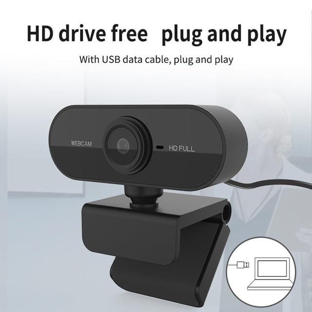 Webcam Full HD 1080P avec Microphone Mini 360 caméra vidéo Rotatab caméra Web numérique USB pour ordinateur portable