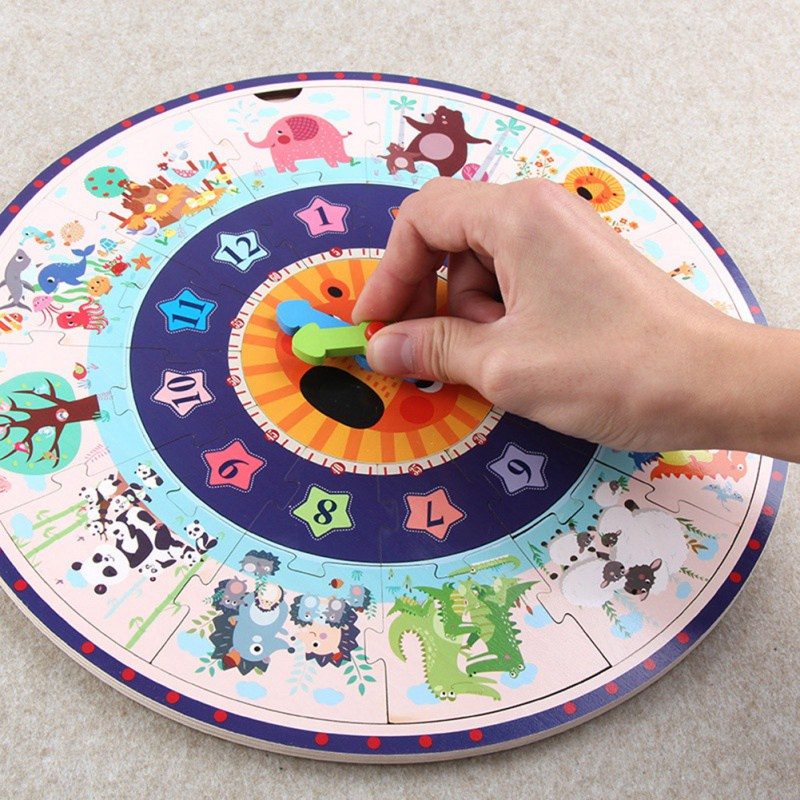 Горячая Хорошее качество обучение студентов часы время учитель Шестерни часы 12/24 час детские развивающие игрушки для детского подарка