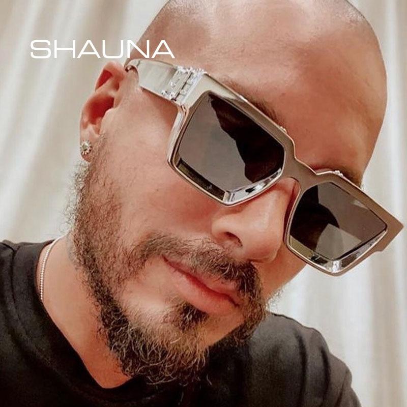 SHAUNA Retro Square Sunglasses Women Brand Designer Summer Styles Candy Colors Fashion Silver Mirror Shades Men UV400 1